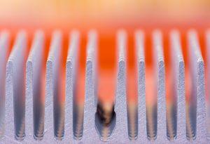 Macro of aluminium heat sink passive heat exchanger
