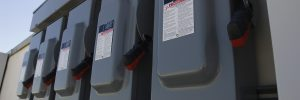 Electrical Breaker Boxes at Solar Power Plant